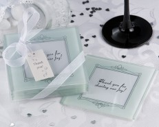 Memories Forever Frosted Glass Photo Coasters
