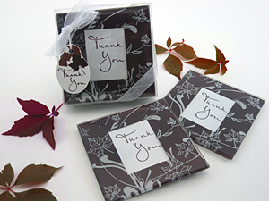 Fall Leaf Coaster Favors - Set of 2