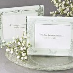 """""""Shimmering Crystals"""" Mini Photo Frame / Place Card Holder"""