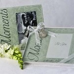 """""""Moments..."""" Frosted Glass Picture Frame Favours"""