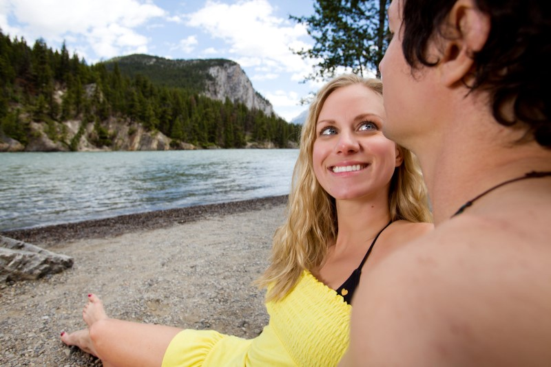banff is a great summer honeymoon destination in Canada