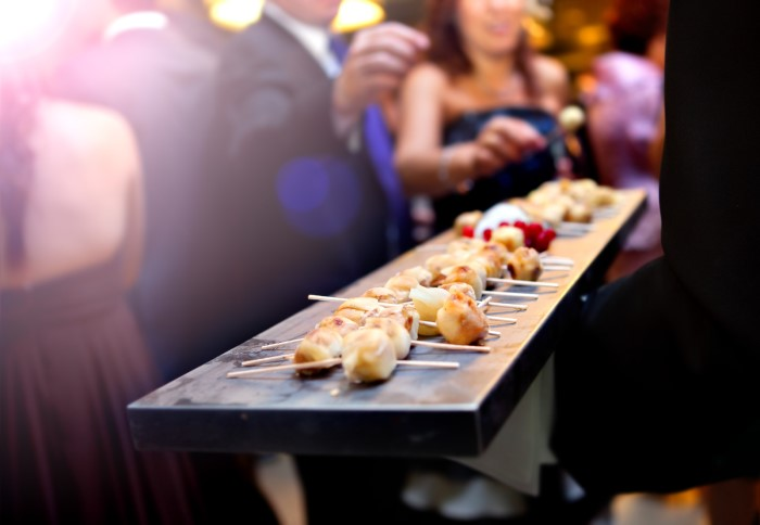 modern wedding catering image
